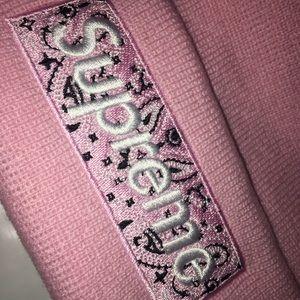 Supreme Bandana Box Logo Beanie (2019) Pink